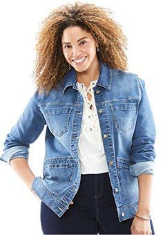 7ad057f026d9e Women s Plus Size Denim Jacket at Amazon Women s Clothing store