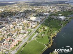 Aerial view of Cornwall, Ontario   Vintage Cornwall Archives https://www.facebook.com/groups/Vintage.Cornwall/ Historical Cornwall Ontario