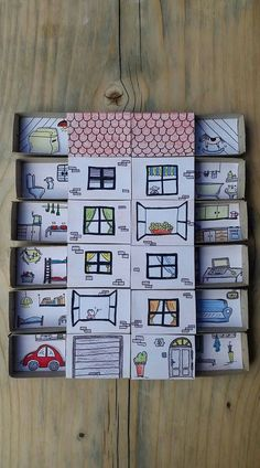 Matchbox Rooms Fun and interactive game for elementary/lower intermediate primary students. A matchbox house can be made for speaking sessions in small groups/pairs to practise positions of rooms, general domestic vocabulary, describing neighbours or homes and speaking about the home.