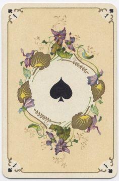 Игральные карты в стиле рококо (французская версия) Фабрика Grimaud(Франция), около 1890 года.