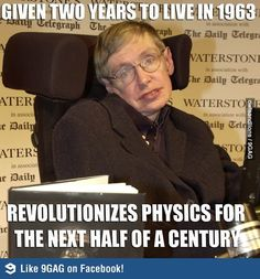 Stephen Hawking ... an unsupported,uninsurable, unwanted species kind under the Obamacare plan.  Watch and see ...