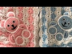 This crochet blanket pattern video i am going to show you how to crochet bear.In my other videos i am show you how to crochet blanket or baby blanket using s. Crochet Applique Patterns Free, Crochet Square Patterns, Crochet Blanket Patterns, Baby Blanket Crochet, Crochet Motif, Crochet Baby, Bear Blanket, Free Crochet, Crochet Teddy