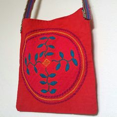Floral Orange Shipibo medicine bag