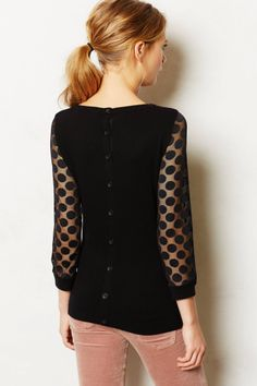 Dotlace Pullover - anthropologie.com
