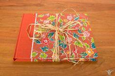 Guest Book Journal  Persimmon Wild Flowers by WatermarkBindery