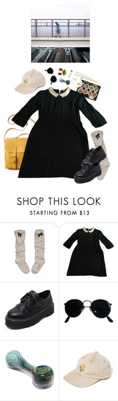 """allison"" by paper-freckles ❤ liked on Polyvore featuring Etiquette, Toast, Sandro, WithChic, Ray-Ban and xO Design"