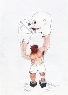 #KinkiTexas - Jack the dempsey, 2014, Mischtechnik auf Papier / tecnica mista su carta, 41x29,7 cm
