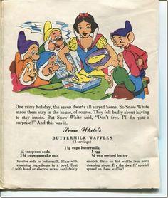 Snow White's Buttermilk waffles #vintage #Disney
