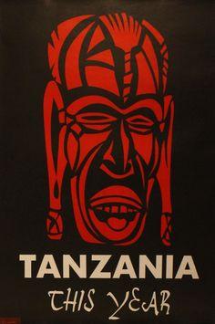 Original Vintage Posters -> Travel Posters -> Tanzania This Year - AntikBar