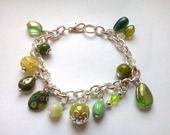 Bracelet perlé vert