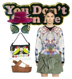 """""""you don't own me"""" by beat-bop ❤ liked on Polyvore featuring Yvng Pearl, Piccione•Piccione, Fendi, Marsèll, Dolce&Gabbana, Philip Treacy and Faith Connexion"""