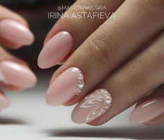 Pictures on the community wall - nails - Ongles Bride Nails, Wedding Nails, Cute Nails, Pretty Nails, Hair And Nails, My Nails, Pearl Nails, Pearl Nail Art, Manicure E Pedicure