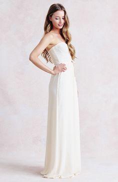 Hannah Dress in Cream Crepe