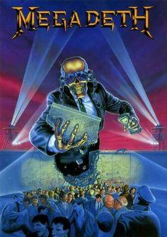 Megadeth Rust in Peace Era Artwork Heavy Metal Rock, Heavy Metal Music, Heavy Metal Bands, Music Pics, Music Artwork, Metal Artwork, Music Stuff, Hard Rock, Vic Rattlehead
