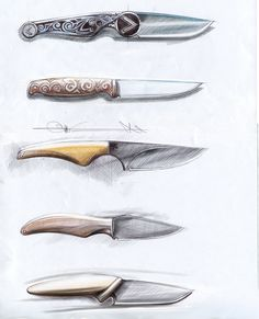 sketches knives