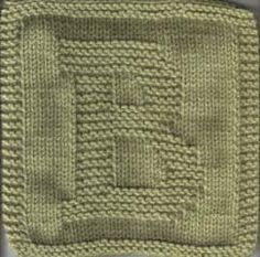 """ABC - 123 knit dishcloth instructions. Thinking  """"monogrammed"""" dishcloths, favorite team, college.  Site also has US states, multiple countries, footprints, holiday, skull & cross bones patterns."""