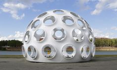 Buckminster Fuller's structure, originally designed as a dwelling, is now on display at the Toulouse International Art Festival in France.