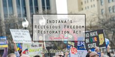Indiana's Religious Freedom Restoration Act #equalndiana