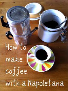 Aglio, Olio e Peperoncino: How to make coffee with a Napoletana pot Best Espresso, Espresso Coffee, Italian Cooking, Italian Recipes, Savarin, How To Make Coffee, Making Coffee, Slow Food, Coffee Recipes