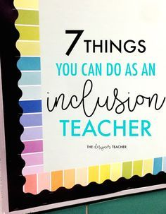 "Special education teachers, are you sick of hovering while you provide inclusion services? Find out 7 concrete things you can DO as an inclusion teacher, even if you're just ""popping in"" for a short time. Number 2 is my favorite! Inclusion Teacher, Special Education Inclusion, Inclusion Classroom, Teaching Special Education, Teacher Education, Kids Education, Elementary Special Education, Education Galaxy, Elementary Math"