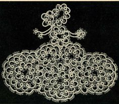 5408 Vintage Tatting PATTERN for Tatted Colonial by BlondiesSpot, $1.99