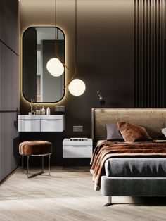 kamar hotel Bedroom hotel chique best i - hotel Hotel Bedroom Design, Home Room Design, Modern Bedroom Design, Contemporary Bedroom, Home Decor Bedroom, Modern Contemporary, Bedroom Rustic, Hotel Bedrooms, Bedroom Ideas