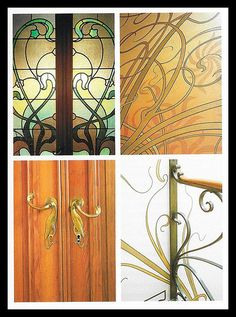 Victor Horta details from Tassel House 1893-5-from Art Nouveau by Stephen Escritt | Flickr - Photo Sharing!