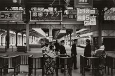 "s-h-o-w-a: "" Ueno station, Japan, 1936 by Kineo Kuwabara """
