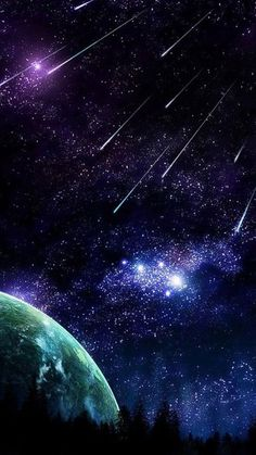 Landscape Mode, Space Backgrounds, Falling Stars, Meteor Shower, Look At The Stars, Space Time, Gif Animé, Movie Wallpapers, Landscape Pictures