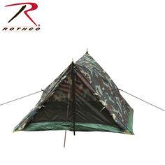 Rothco Camo Two Man Trail Tent Camping Packing 3b4e7f16bfa