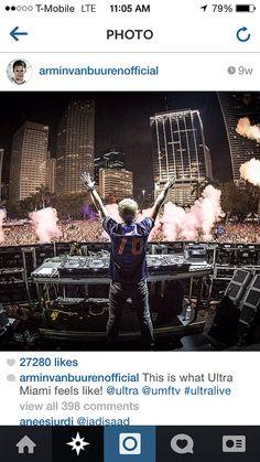 "At UMF in Miami, Florida 2014, Armin van Buuren was wearing the 2014 World Cup Netherlands Away jersey, with name ""VAN BUUREN"" and #76. Get your jersey at http://edmgears.com"