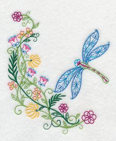 Crewel Embroidery Design Machine Embroidery Designs at Embroidery Library! Local Embroidery, Best Embroidery Machine, Learn Embroidery, Crewel Embroidery, Embroidery Thread, Machine Embroidery Designs, Embroidery Ideas, Shirt Embroidery, Learning To Embroider