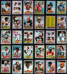 1980 Topps Football Cards Complete Your Set You U Pick From List 201-400