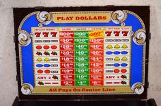 Vintage Slot Machine Glass Slot Machine Front by ThoughtCakeLiving, $35.00