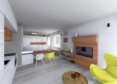Interiér obývacího pokoje s ložnicí nad šatnou Contemporary, Home Decor, Decoration Home, Room Decor, Home Interior Design, Home Decoration, Interior Design