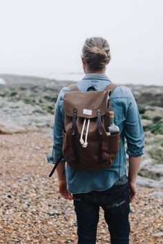 Whether adventuring into the mountains or on urban explorations this stunning waxed canvas backpack will be your trusted companion for years. The nature of the water repellent waxed canvas mean this backpack will develop the most beautiful patina over time