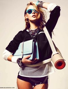 lucia7 GRAZIA ALEMANHA | Editorial Março 2012 | Who says workout gear isn't editorial? If you've got it, flaunt it.