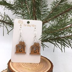 CHRISTMAS EARRINGS Adorable Nativity Scene earrings for Christmas time! Perfect for gifts or to keep for yourself. Light weight on the ear, and cute to look at! Christmas Nativity, Christmas Gifts, Gift Ideas, Jewellery, Unique Jewelry, Handmade Gifts, Earrings, Vintage, Etsy