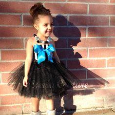 Black / White Striped Tutu Dress Eterra Couture Signature Bow Dress Pageant Toddler Tutu - YOU CHOOSE BOW Color Birthday Vintage Dress