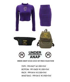 UNDER ANAP メッセージ刺繍ハイネックTOP(別売りSET UP) - ANAP オンラインショップ[通販]