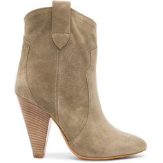Isabel Marant Etoile Roxann Calfskin Velvet Leather Booties ($720) ❤ liked on Polyvore featuring shoes, boots, ankle booties, booties, leather calf boots, leather ankle booties, genuine leather boots, leather booties and high heel ankle booties