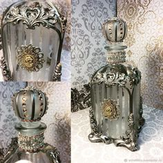Majority of these lilac box activities provide a large number of tips to pull out and re-invent this day-to-day item. Glass Bottle Crafts, Diy Bottle, Bottle Art, Glass Bottles, Beer Bottle, Decoupage Glass, Wedding Bottles, Painted Wine Bottles, Antique Perfume Bottles