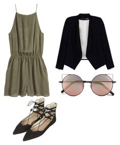 """Untitled #84"" by lookdodia00 on Polyvore featuring H&M, Alice + Olivia, Linda Farrow and Topshop"