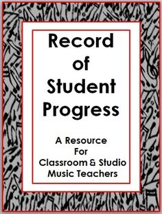 Music: Student Record of Progress Sheet Music Teachers, Music Classroom, Music Education, Piano Lessons, Music Lessons, Middle School Music, Music Worksheets, Piano Teaching, Music Activities