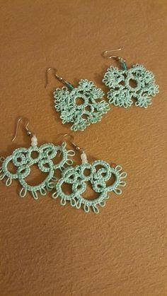 tatted earrings by Rhonda Tatting, Crochet Earrings, Jewelry, Fashion, Moda, Jewlery, Jewerly, Fashion Styles, Bobbin Lace