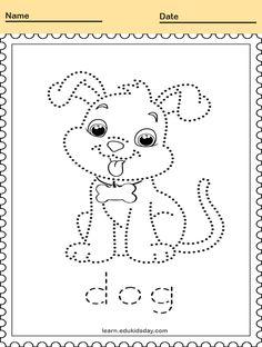 #PrintableTracing animal line tracing dog #kids #linetracing #printablelinetracing #linetracingworksheets #kindergartens #tracing #alphabettracingletter #alphabetlettertracing Line Tracing Worksheets, Kindergartens, Printable Animals, Tracing Letters, Types Of Animals, Handwriting, Printables, Dogs, Kindergarten