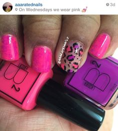 LOVE Bsquared lacquer!!! Pus these babies glow in the dark!!! #bsquared #pinkandpurple