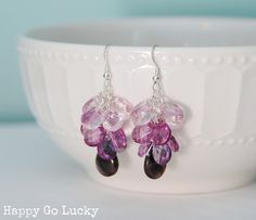 Easy Ombre Earrings Tutorial from Happy Go Lucky for Love Grows Wild