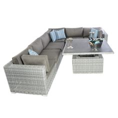 e5954a90f44 Kensington Deluxe 6 Piece Low Back Modular Corner Set - 3 Corners and 3  Middles - Slate - Regatta Garden Furniture Essex