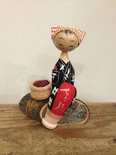 Japanese Wooden Doll Kokeshi Vintage